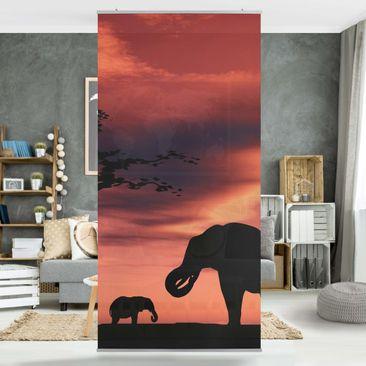 Produktfoto Raumteiler - African Elefant Family 250x120cm