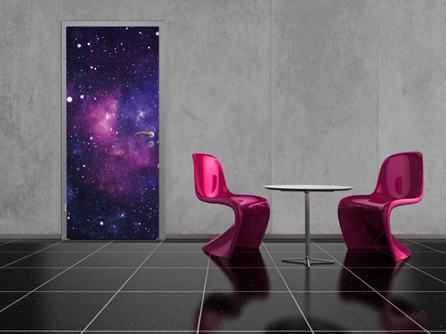 fototapete t r papier galaxy 100x210cm. Black Bedroom Furniture Sets. Home Design Ideas