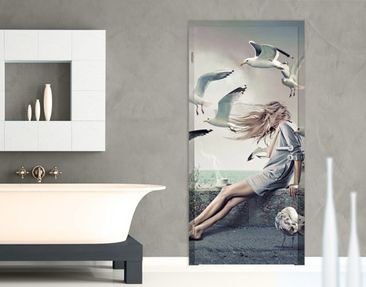 Produktfoto Adhesive Door-Sized Wall Mural Coffee at...