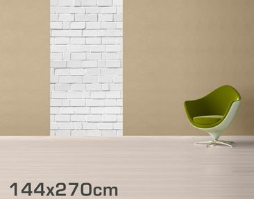Product picture Removable Wallpaper - White Brick...