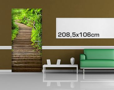 Product picture Door Photo Wall Mural Stairs In The...