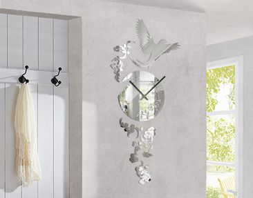 Product picture Design Wall Clock Dove Mirror