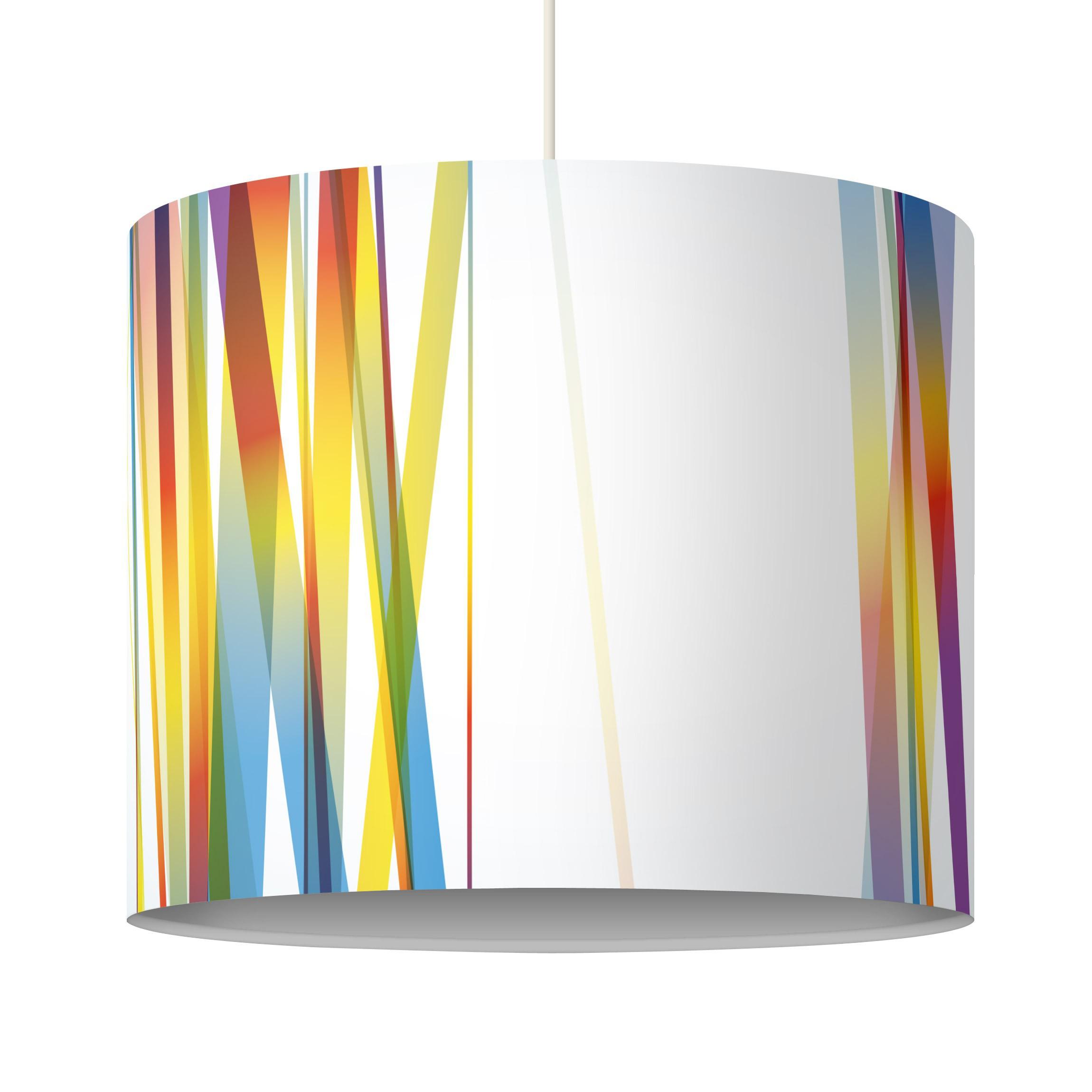 pendelleuchte rainbow stripes lampe lampenschirm bunt. Black Bedroom Furniture Sets. Home Design Ideas
