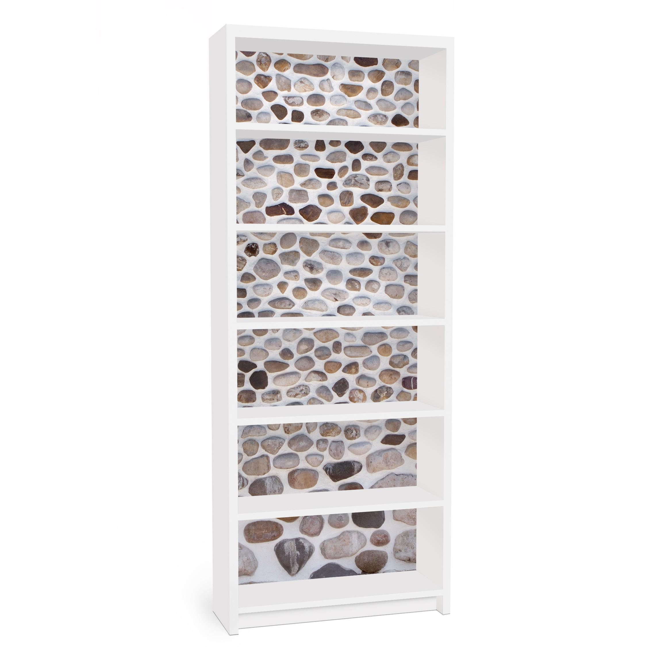 m belfolie f r ikea billy regal klebefolie andalusische steinmauer. Black Bedroom Furniture Sets. Home Design Ideas