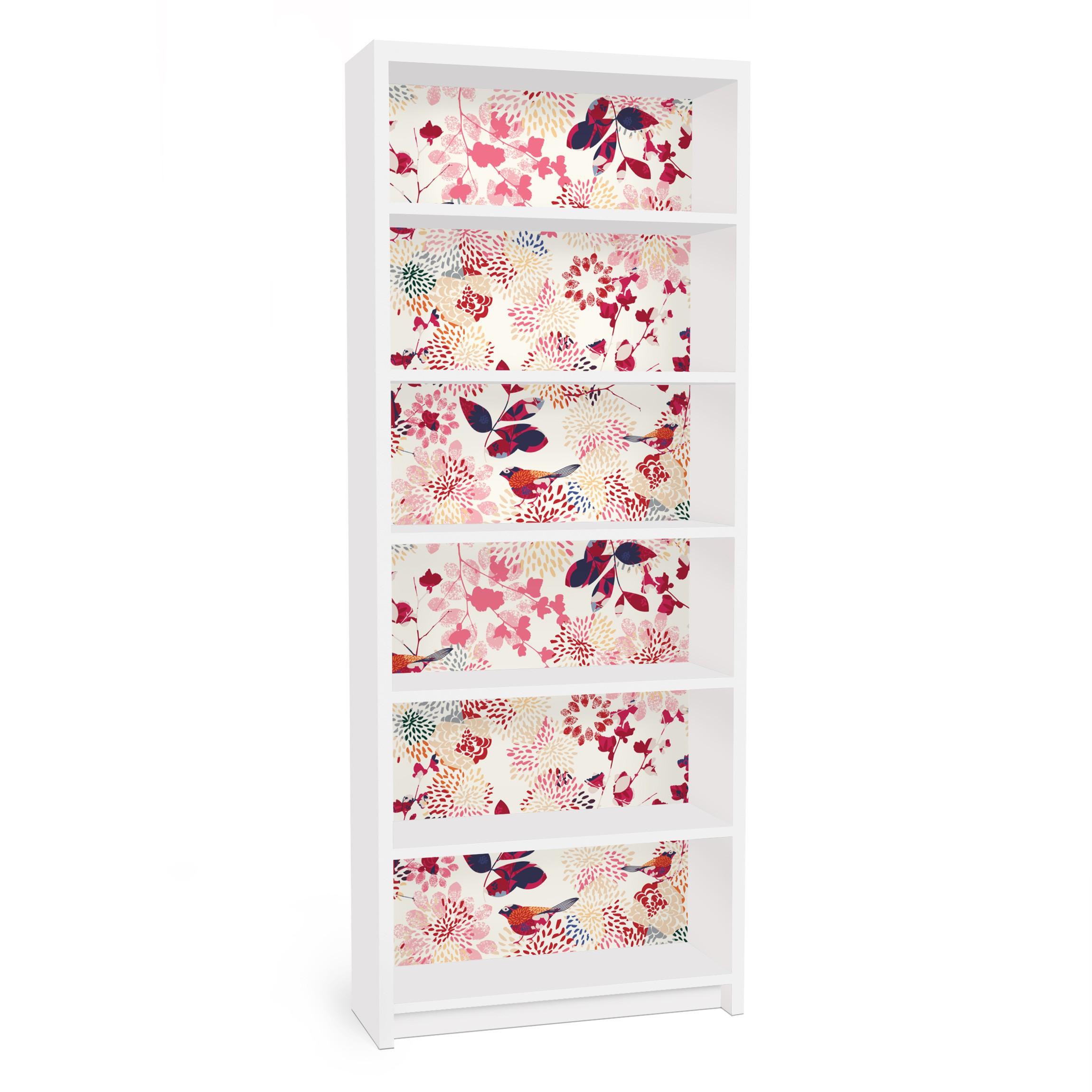 Carta adesiva per mobili ikea billy libreria fancy birds - Carta per coprire mobili ...