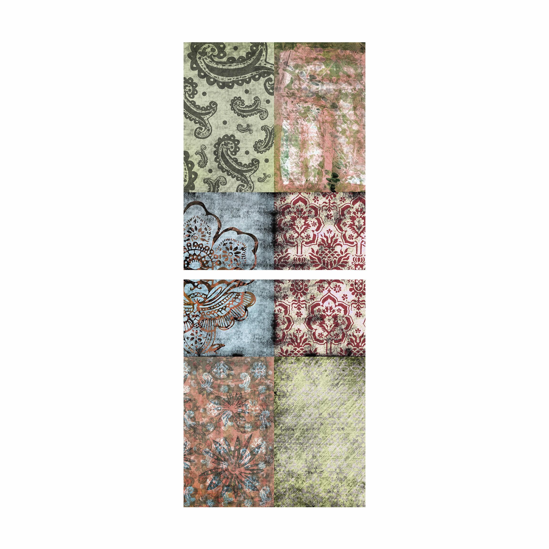 Furniture decal for ikea billy bookshelf old patterns for Carta adesiva per mobili ikea