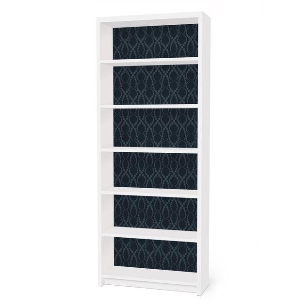 m belfolie f r ikea billy regal klebefolie schwarze perlen ornament. Black Bedroom Furniture Sets. Home Design Ideas