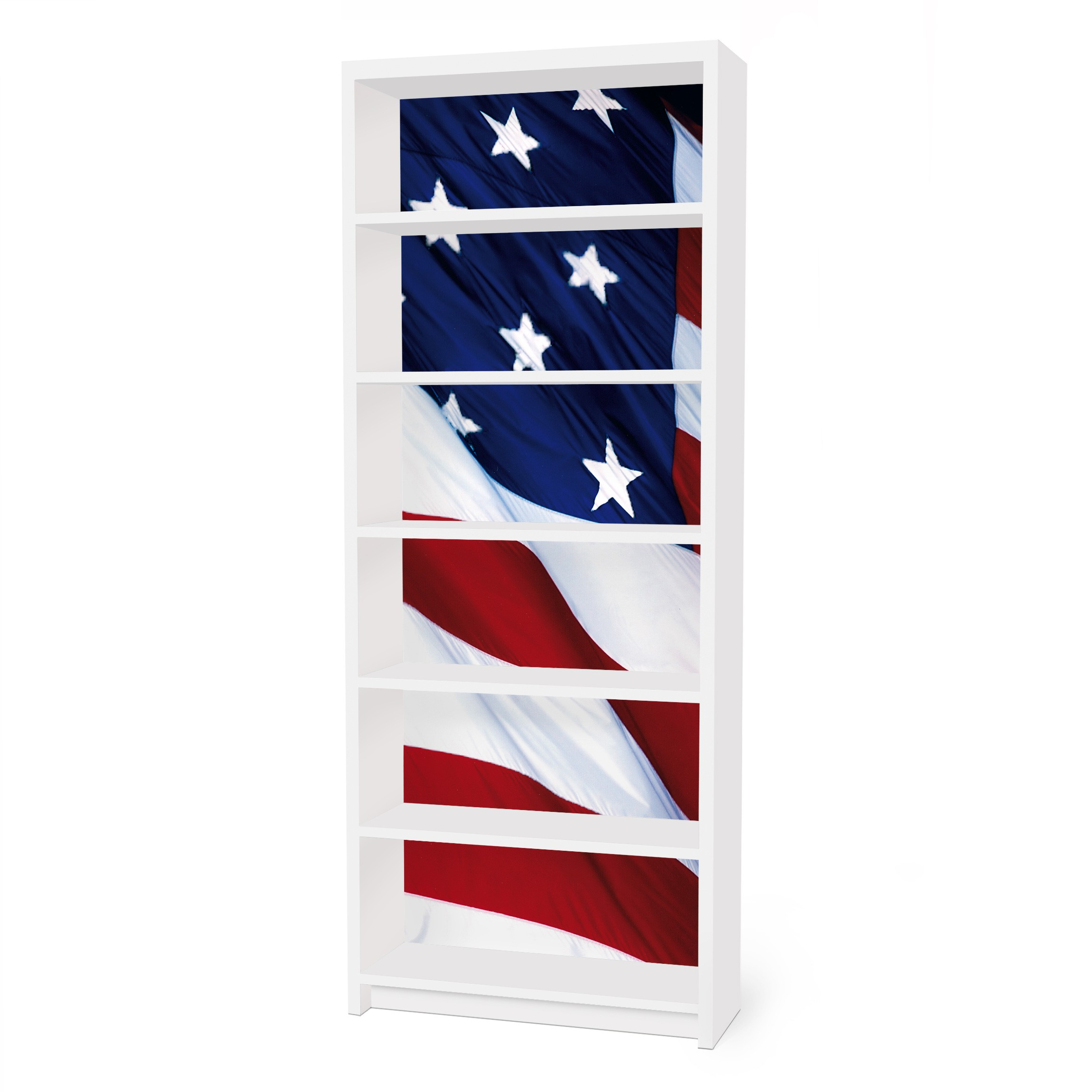 m belfolie f r ikea billy regal klebefolie stars and stripes. Black Bedroom Furniture Sets. Home Design Ideas