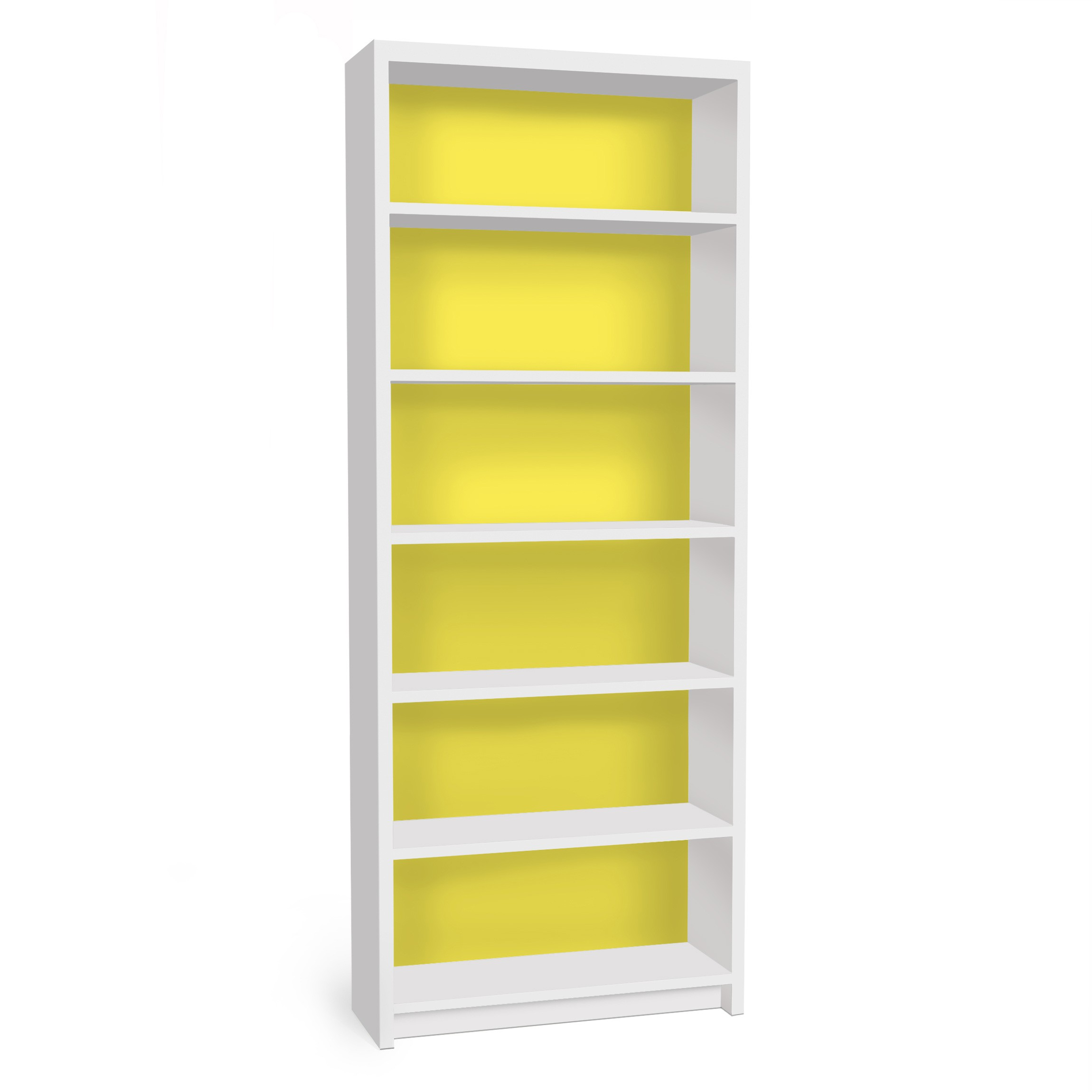 m belfolie f r ikea billy regal klebefolie colour lemon yellow. Black Bedroom Furniture Sets. Home Design Ideas