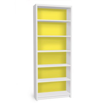 Produktfoto Möbelfolie für IKEA Billy Regal - Klebefolie Colour Lemon Yellow