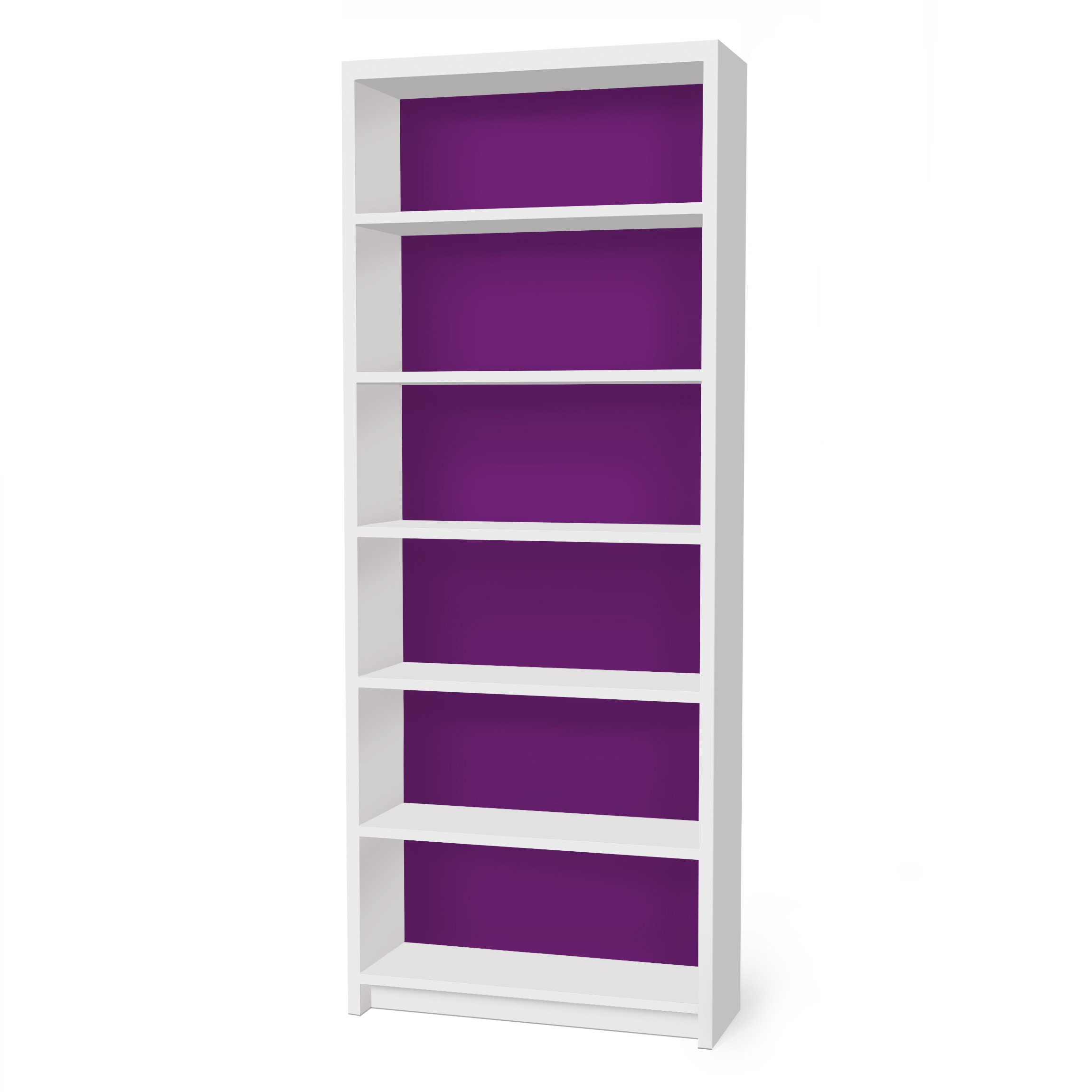 m belfolie f r ikea billy regal klebefolie colour purple. Black Bedroom Furniture Sets. Home Design Ideas