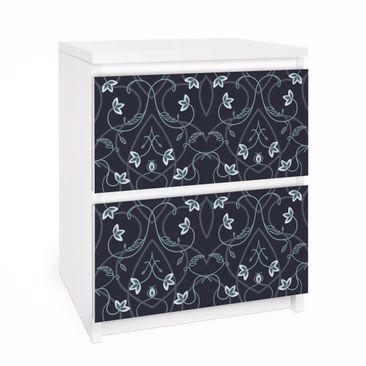 Produktfoto Möbelfolie für IKEA Malm Kommode - Selbstklebefolie Blumen Ornament Fantasie