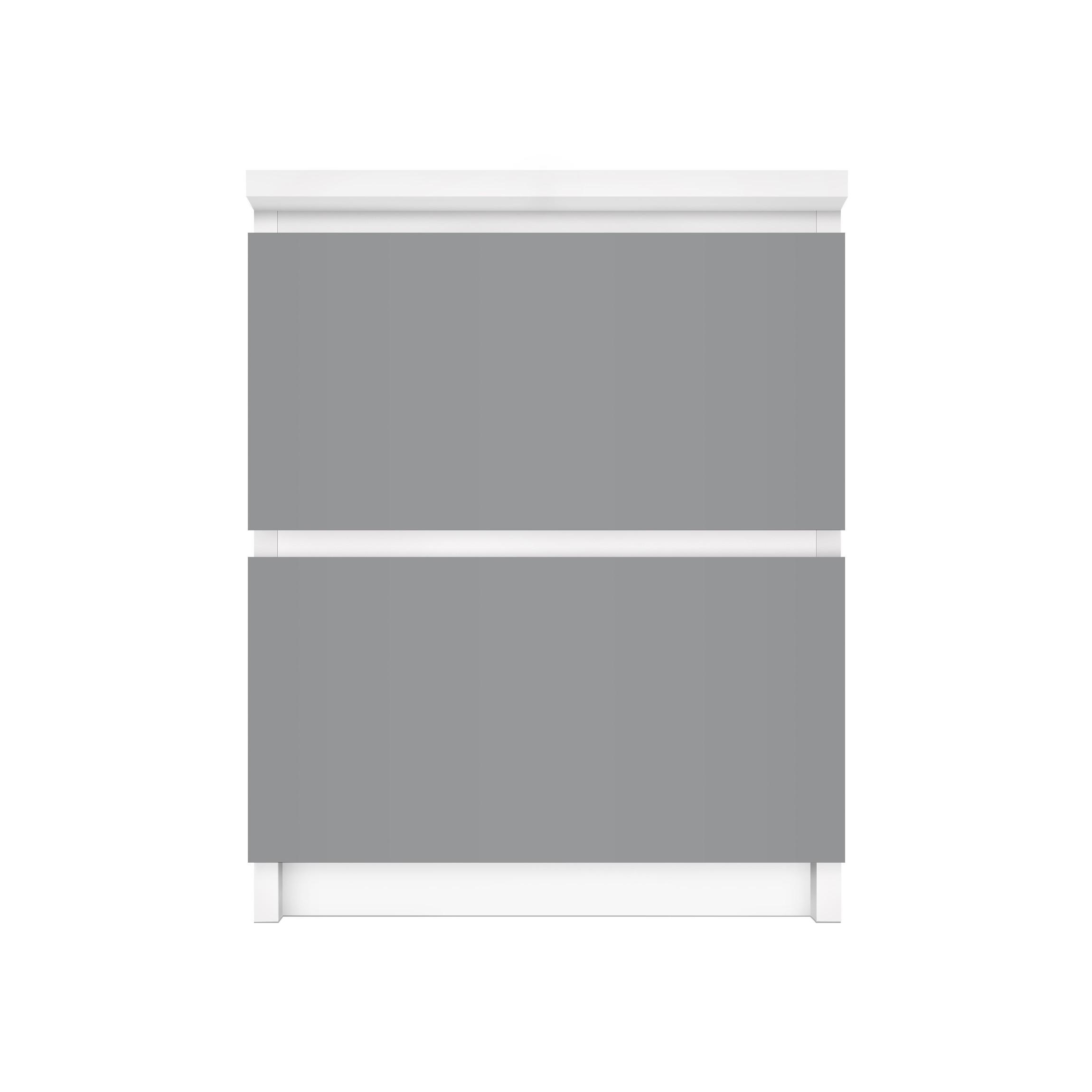 Carta adesiva per mobili ikea malm cassettiera 2xcassetti colour cool grey - Carta per coprire mobili ...