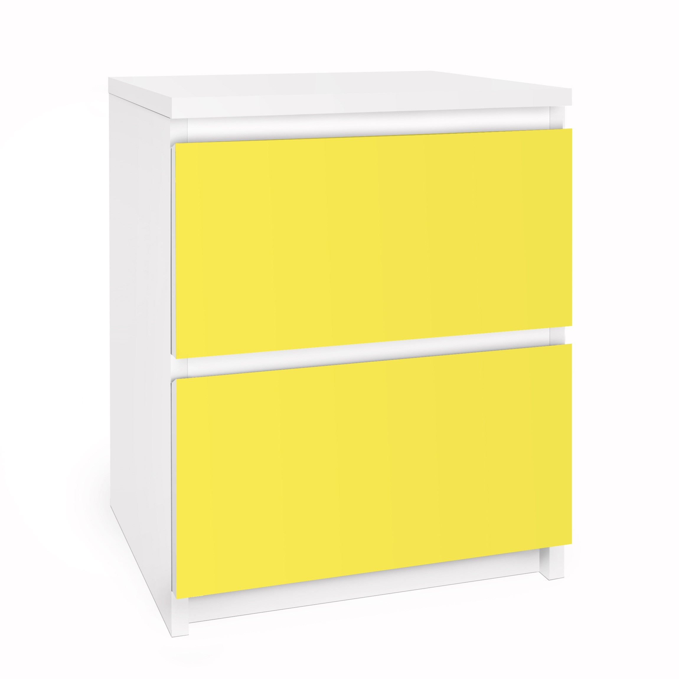 m belfolie f r ikea malm kommode selbstklebefolie colour lemon yellow. Black Bedroom Furniture Sets. Home Design Ideas