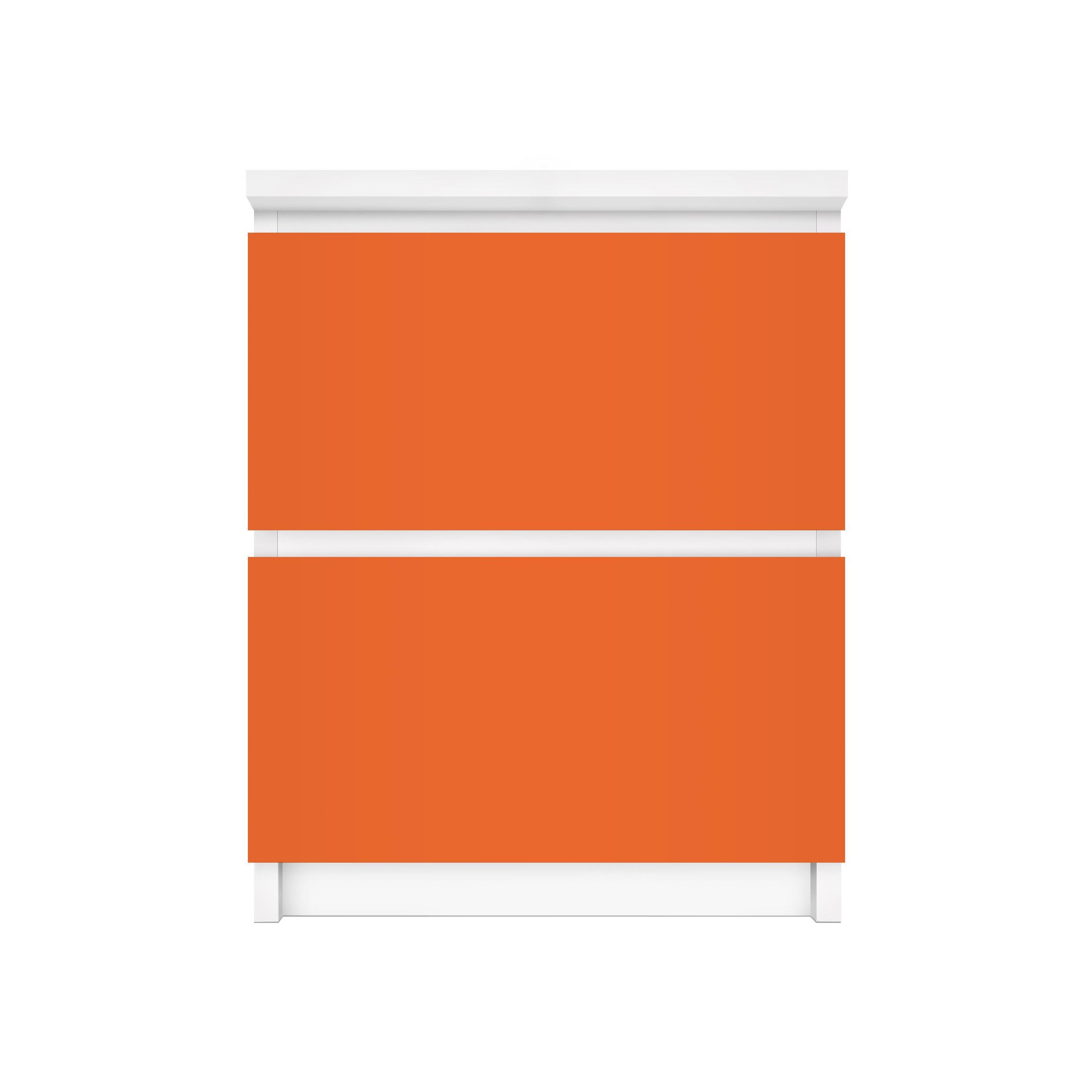 Mobelfolie Fur Ikea Malm Kommode Selbstklebefolie Colour Orange