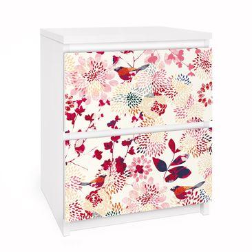 Immagine del prodotto Carta adesiva per mobili IKEA - Malm Cassettiera 2xCassetti - Fancy Birds