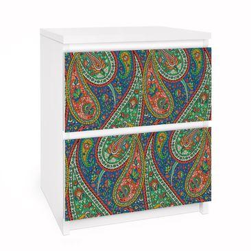 Produktfoto Möbelfolie für IKEA Malm Kommode - Selbstklebefolie Filigranes Paisley Design