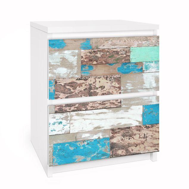 Produktfoto Möbelfolie für IKEA Malm Kommode - Selbstklebefolie Maritime Planks