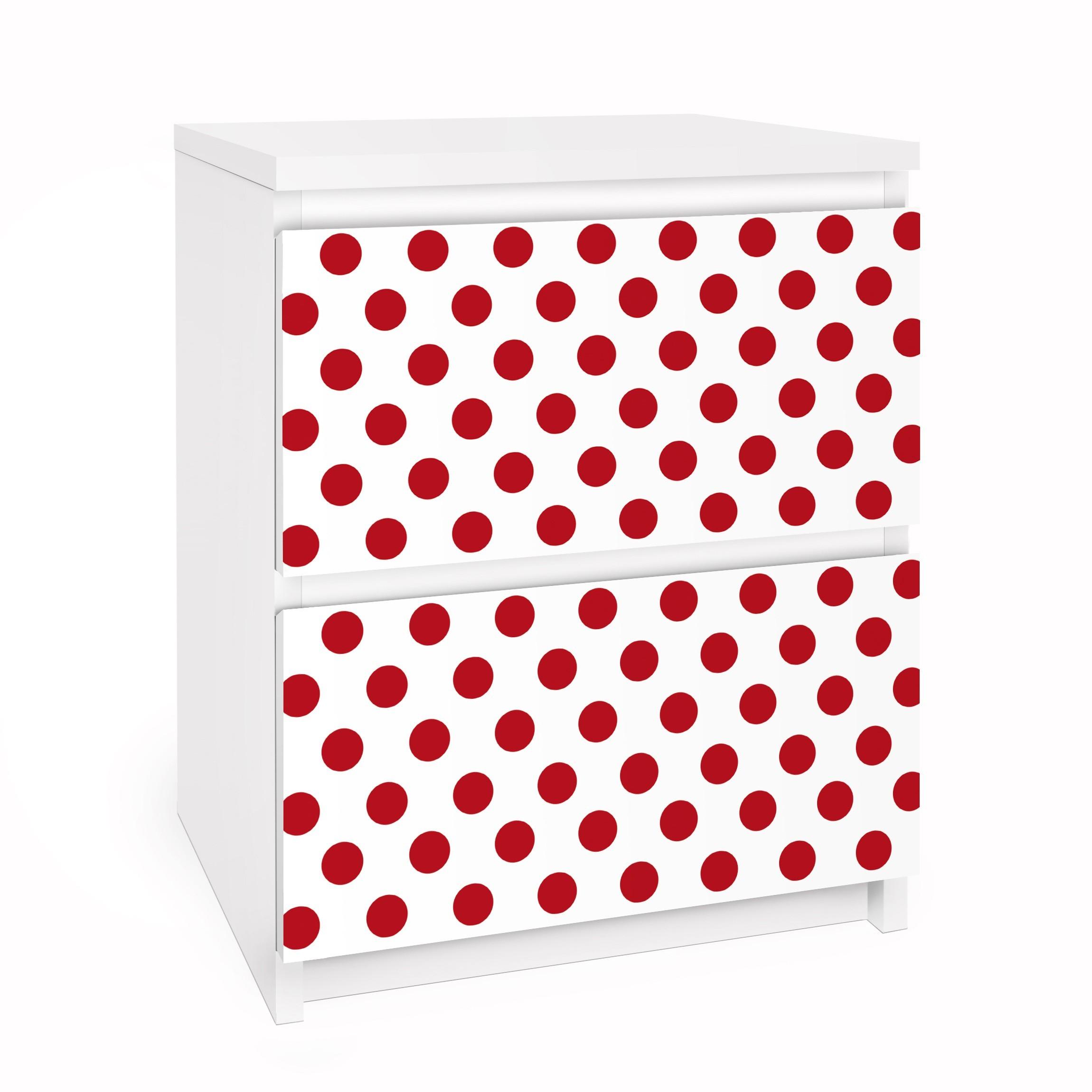 Carta adesiva per mobili ikea malm cassettiera 2xcassetti no ds92 dot design girly white - Stickers bambini ikea ...