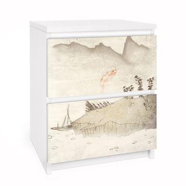 Immagine del prodotto Carta adesiva per mobili IKEA - Malm Cassettiera 2xCassetti - No.MW8 Japanese Silence