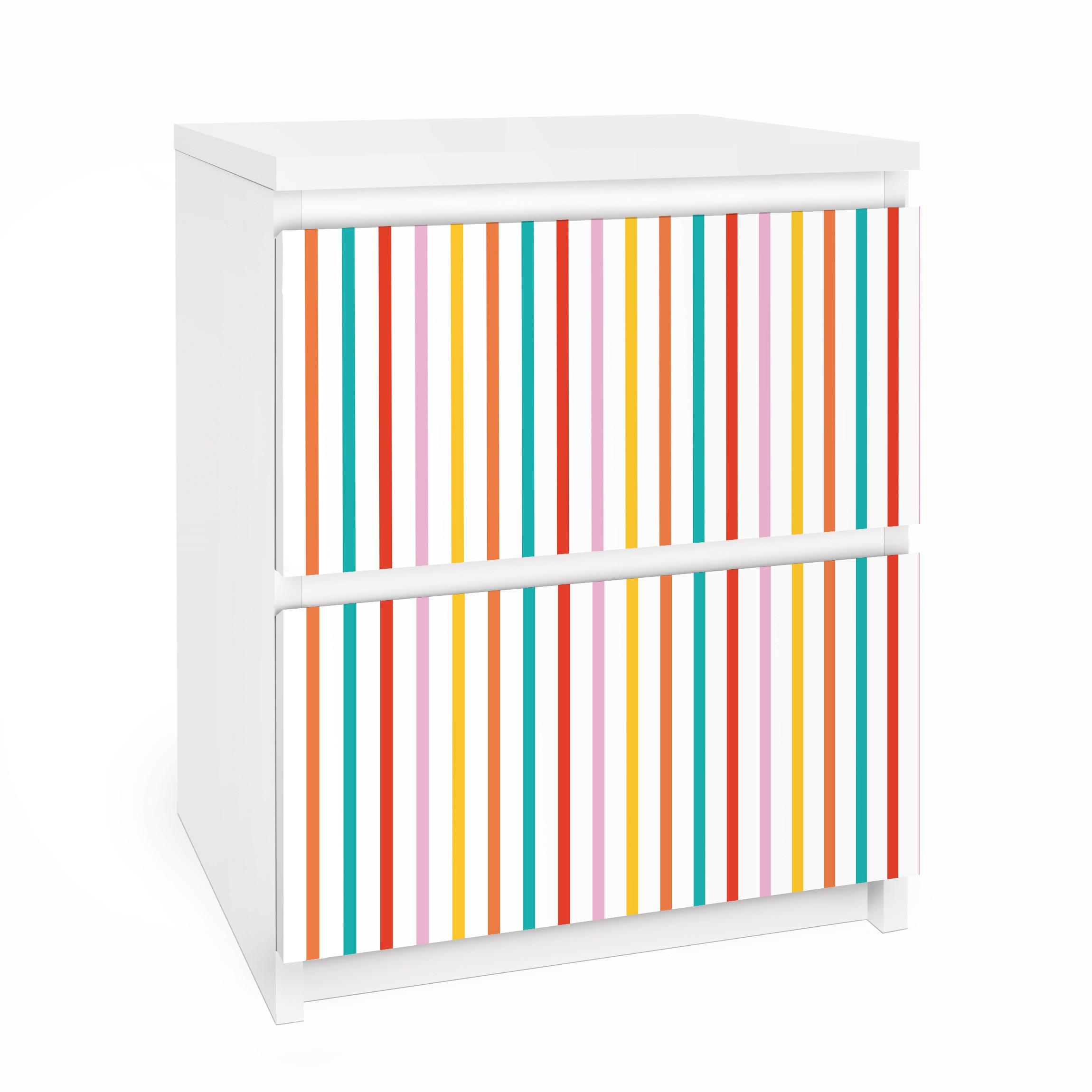 Carta adesiva per mobili ikea malm cassettiera 2xcassetti no ul750 stripes - Carta adesiva per mobili ikea ...