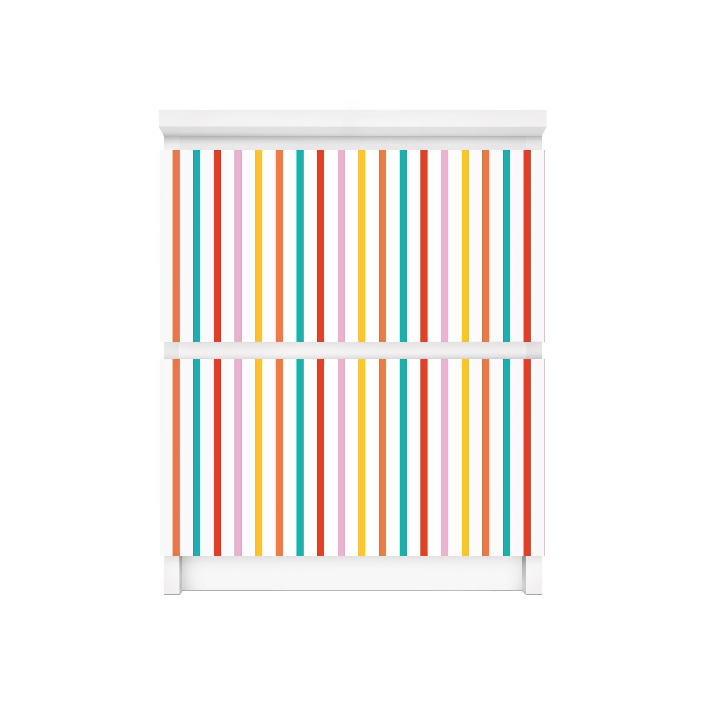 Carta adesiva per mobili ikea malm cassettiera 2xcassetti no ul750 stripes - Ikea ruote per mobili ...