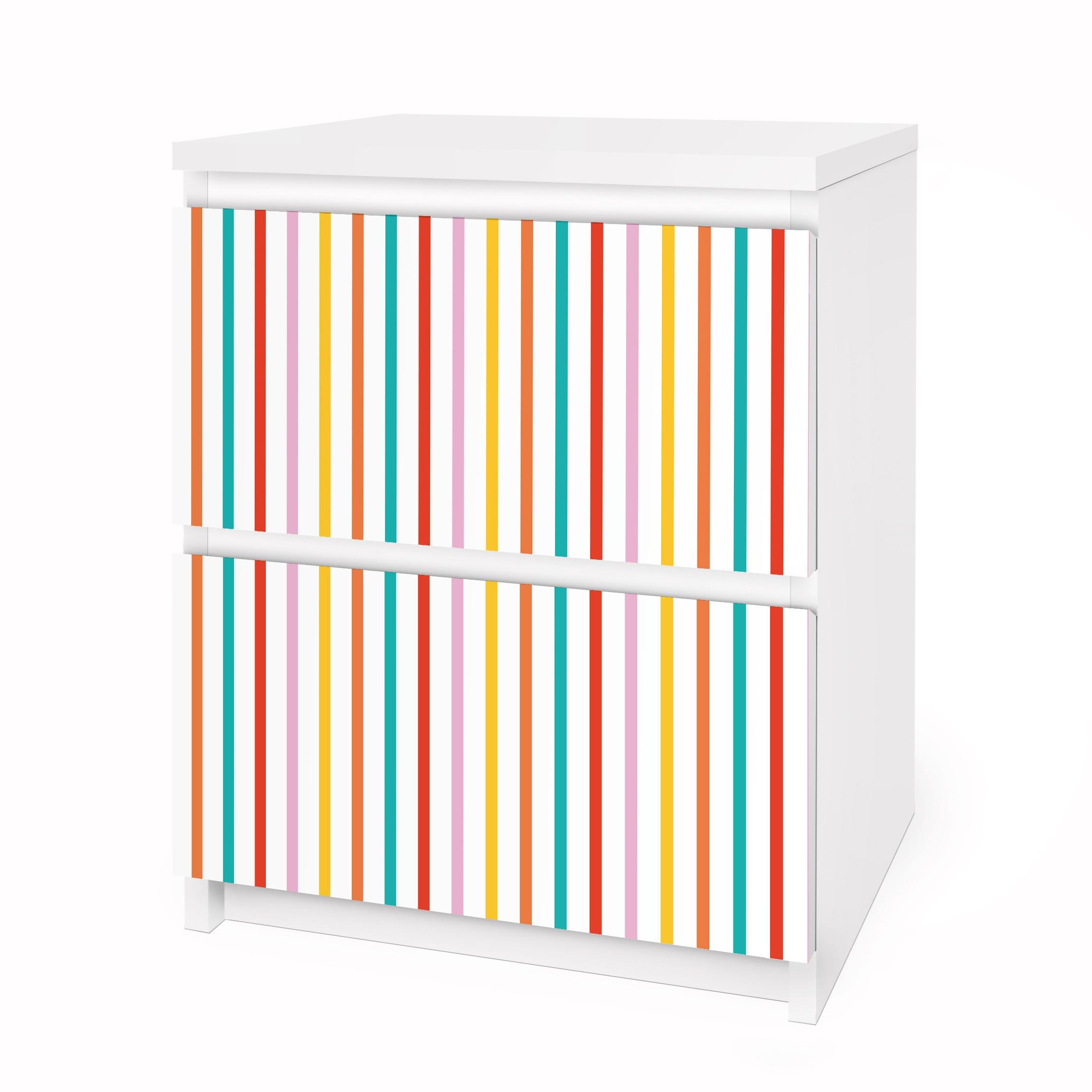 Carta adesiva per mobili ikea malm cassettiera 2xcassetti no ul750 stripes - Pellicola adesiva per mobili ikea ...