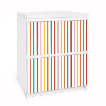 Produktfoto Möbelfolie für IKEA Malm Kommode - Selbstklebefolie No.UL750 Stripes