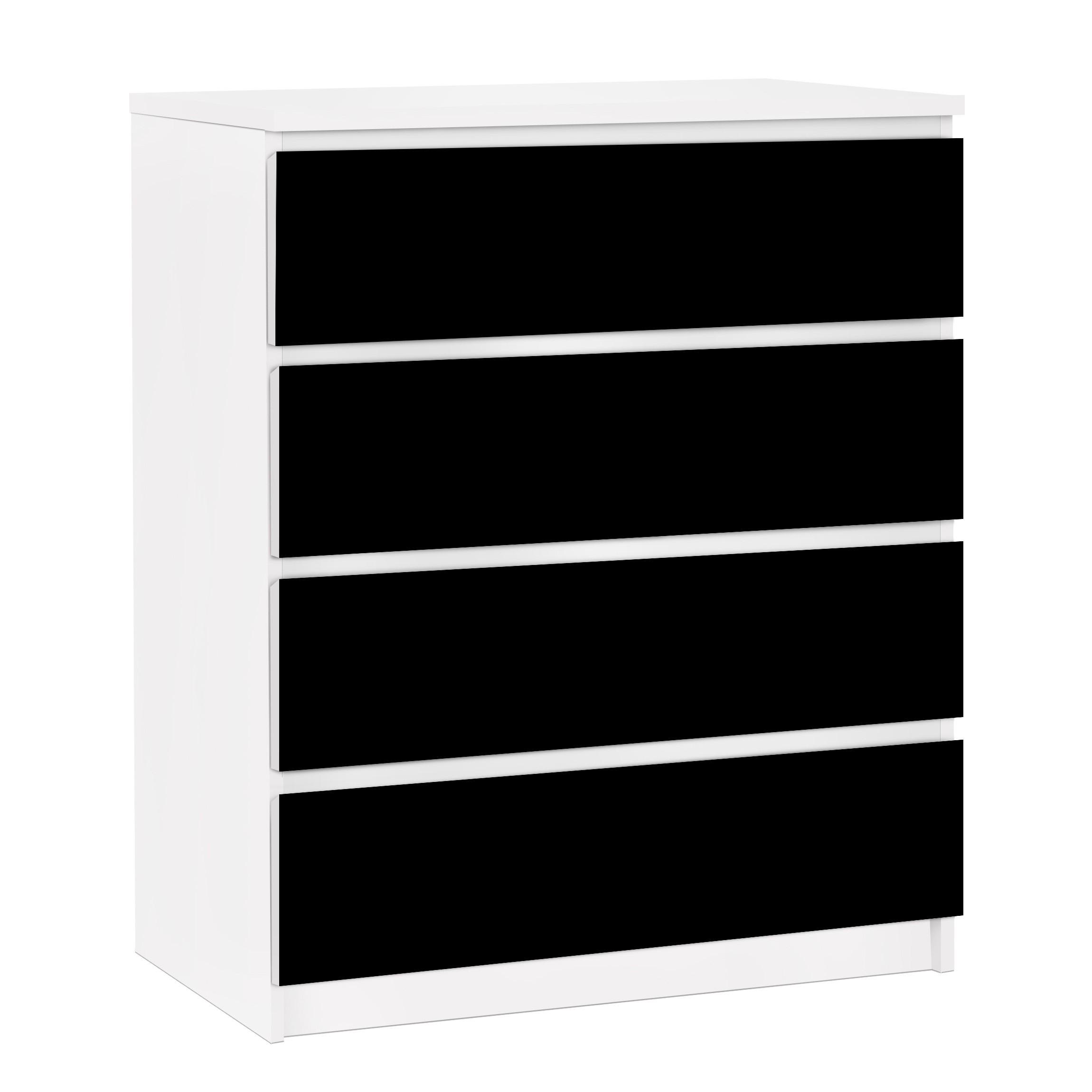 m belfolie f r ikea malm kommode selbstklebende folie colour black. Black Bedroom Furniture Sets. Home Design Ideas