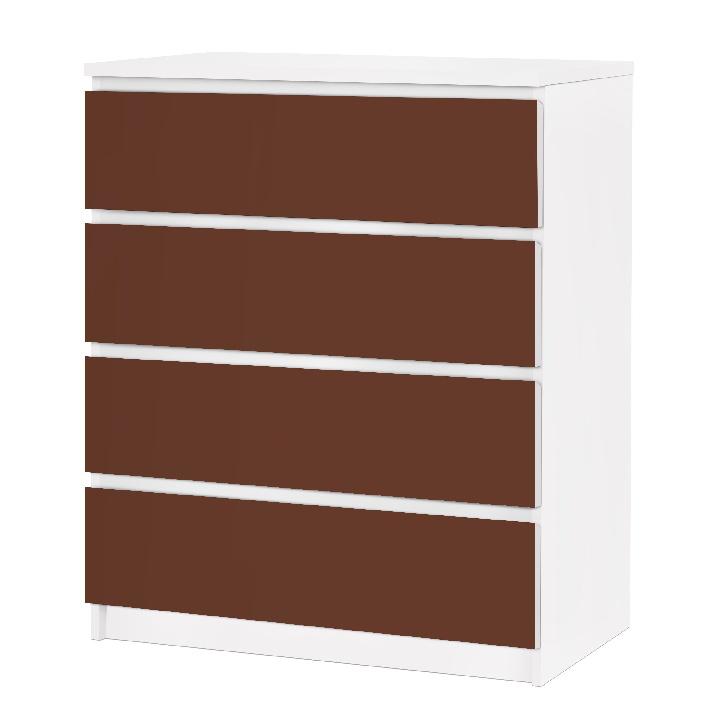 m belfolie f r ikea malm kommode selbstklebende folie colour chocolate. Black Bedroom Furniture Sets. Home Design Ideas