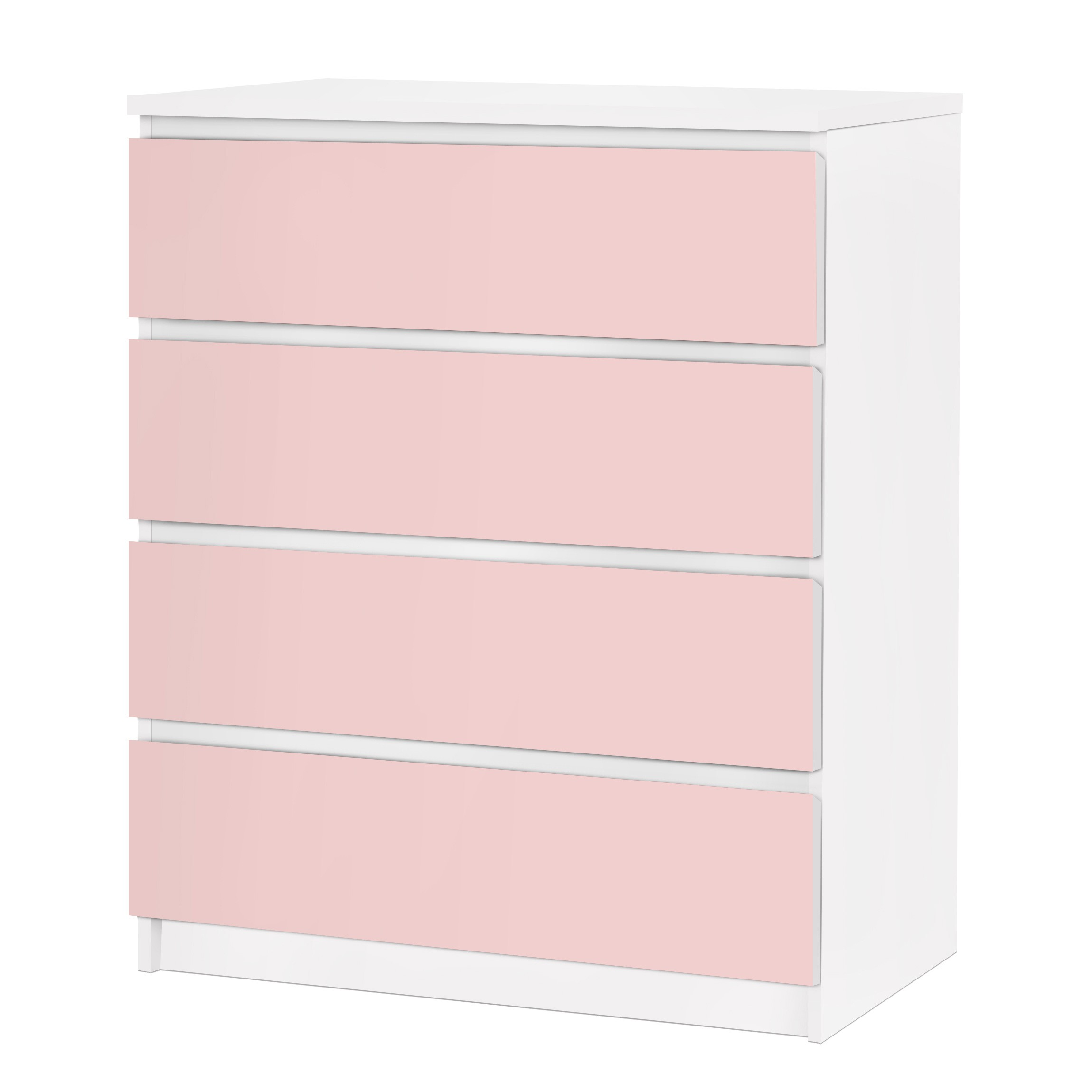 m belfolie f r ikea malm kommode selbstklebende folie colour rose. Black Bedroom Furniture Sets. Home Design Ideas