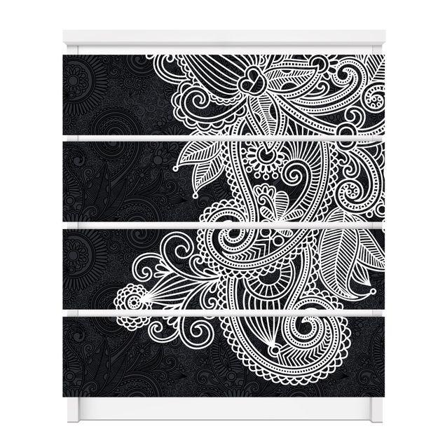 Produktfoto Möbelfolie für IKEA Malm Kommode - selbstklebende Folie Gothic Ornament
