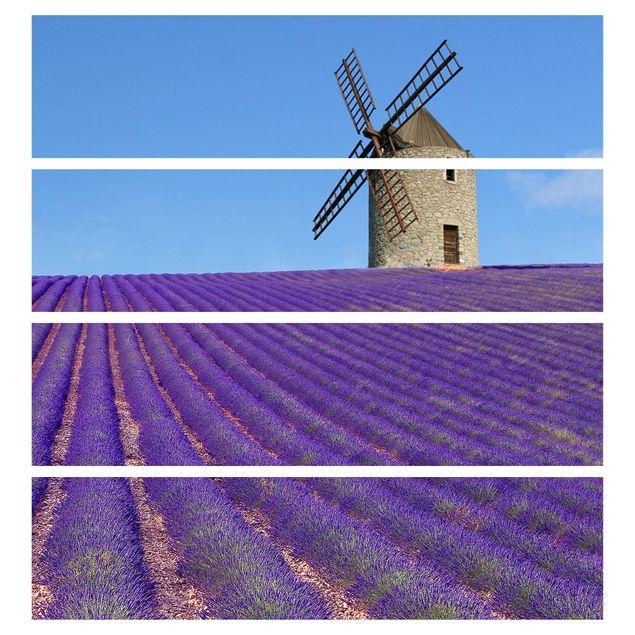 Produktfoto Möbelfolie für IKEA Malm Kommode - selbstklebende Folie Lavendelduft in der Provence