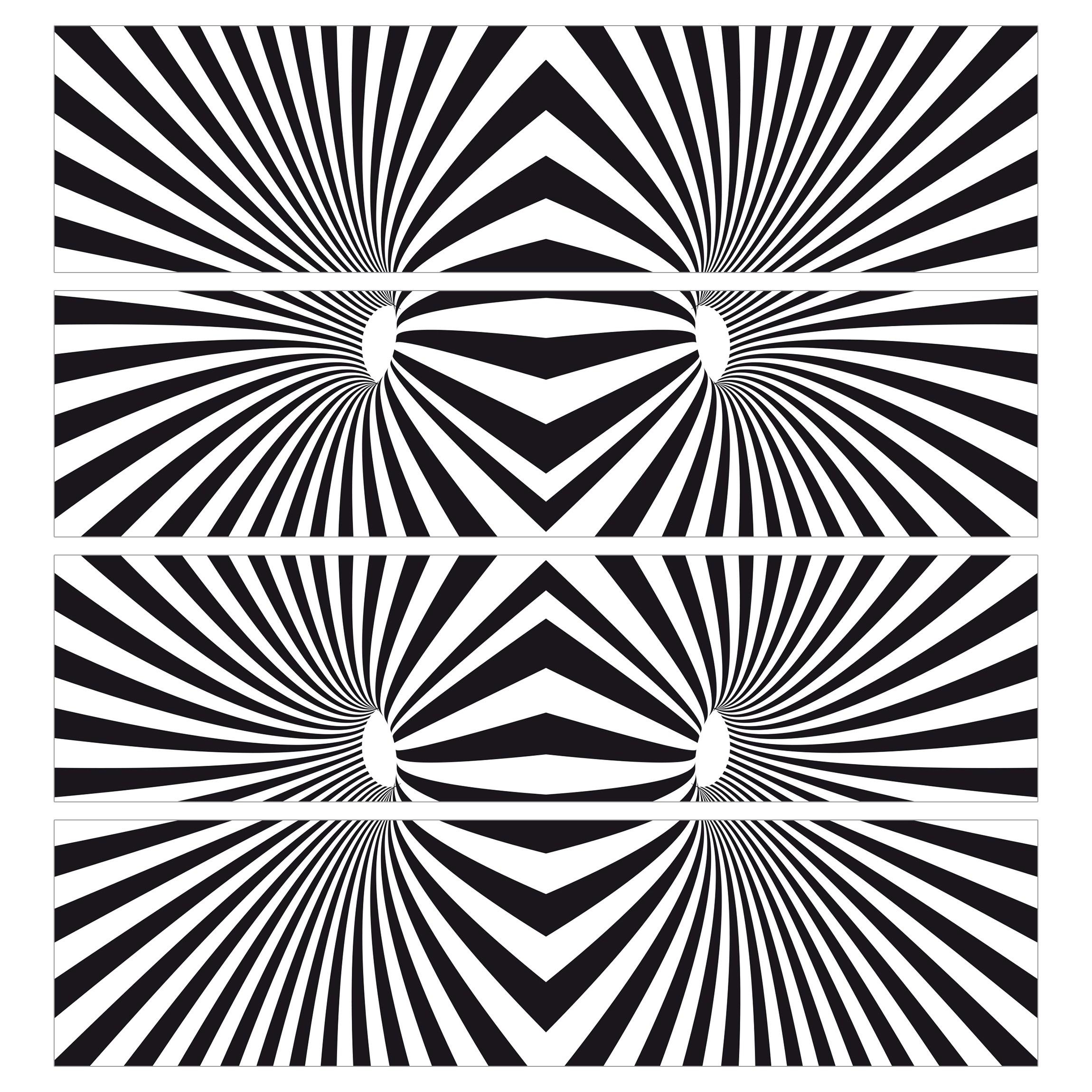 m belfolie f r ikea malm kommode selbstklebende folie psychedelisches schwarzwei muster. Black Bedroom Furniture Sets. Home Design Ideas