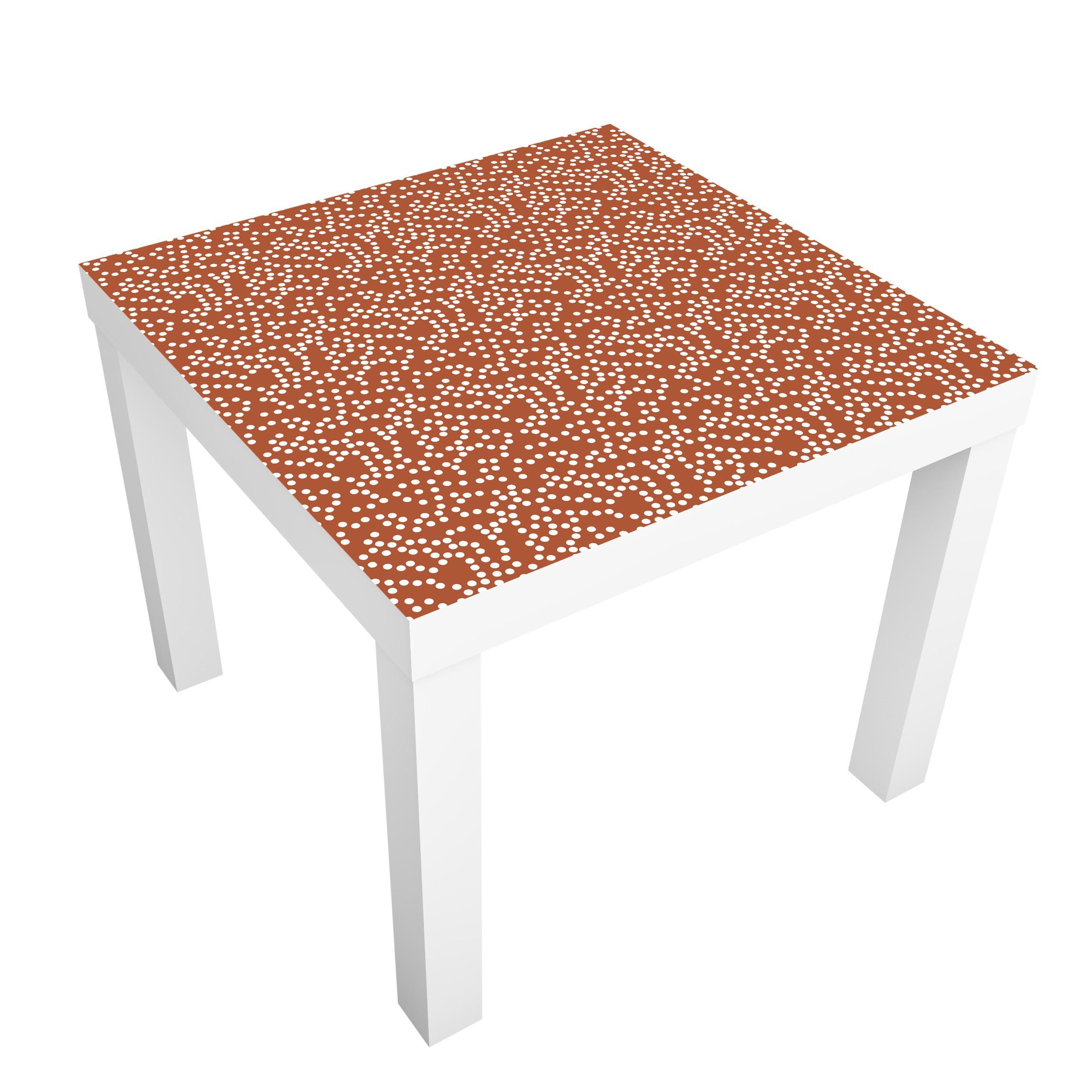 Carta adesiva per mobili ikea lack tavolino aboriginal dot pattern brown - Ikea lack tavolino ...