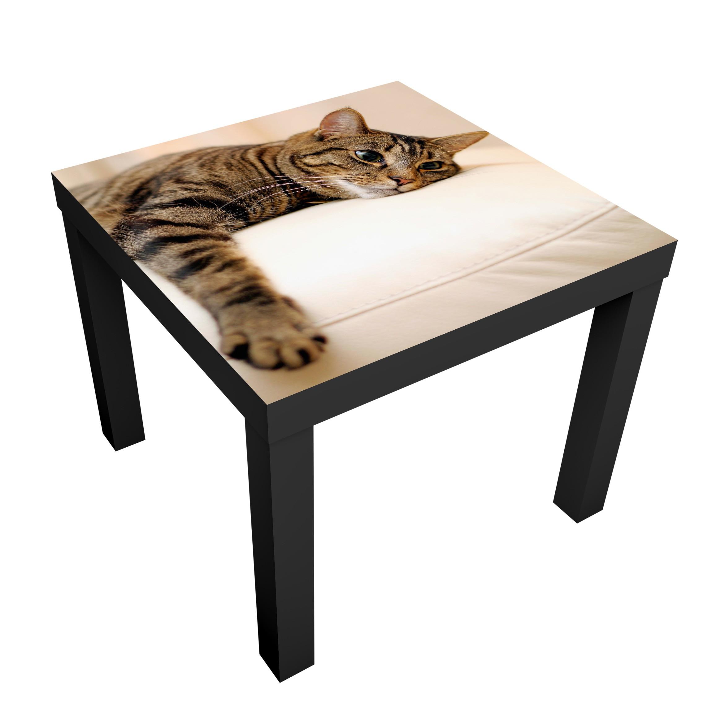 Carta adesiva per mobili ikea lack tavolino cat chill out - Carta per foderare mobili ...