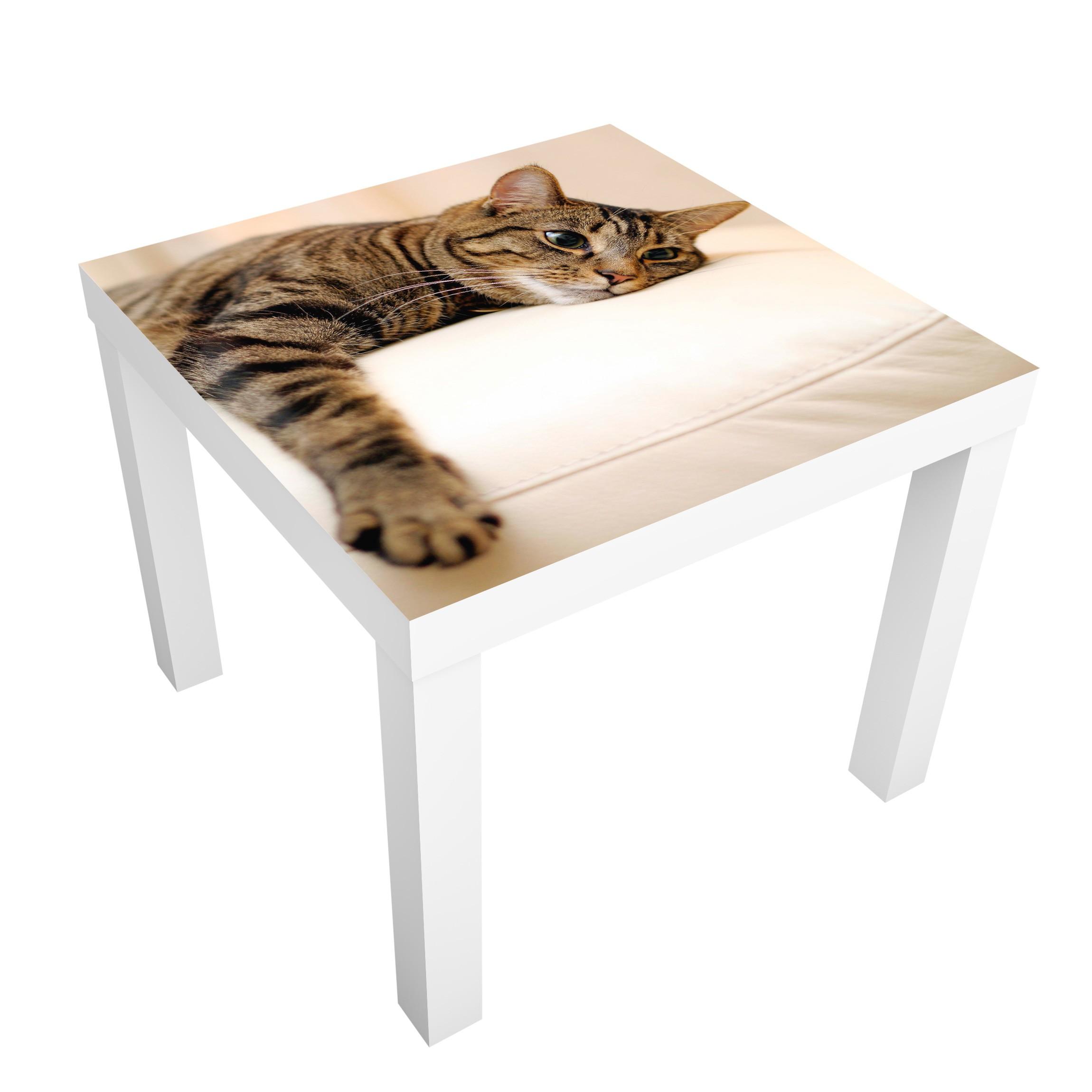 Carta adesiva per mobili ikea lack tavolino cat chill out - Pellicola adesiva per mobili ikea ...