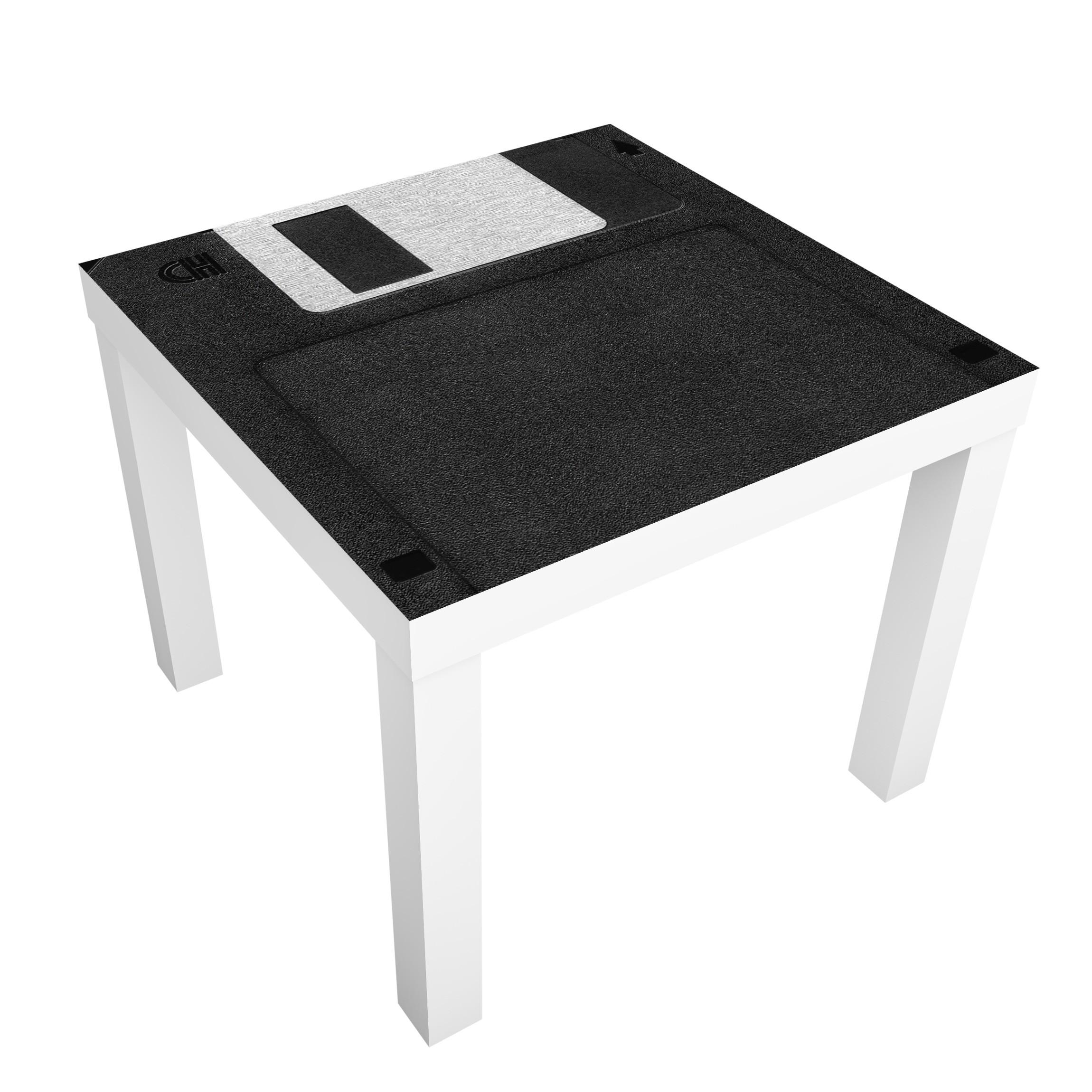 Carta adesiva per mobili ikea lack tavolino floppy disk for Mobili per computer ikea