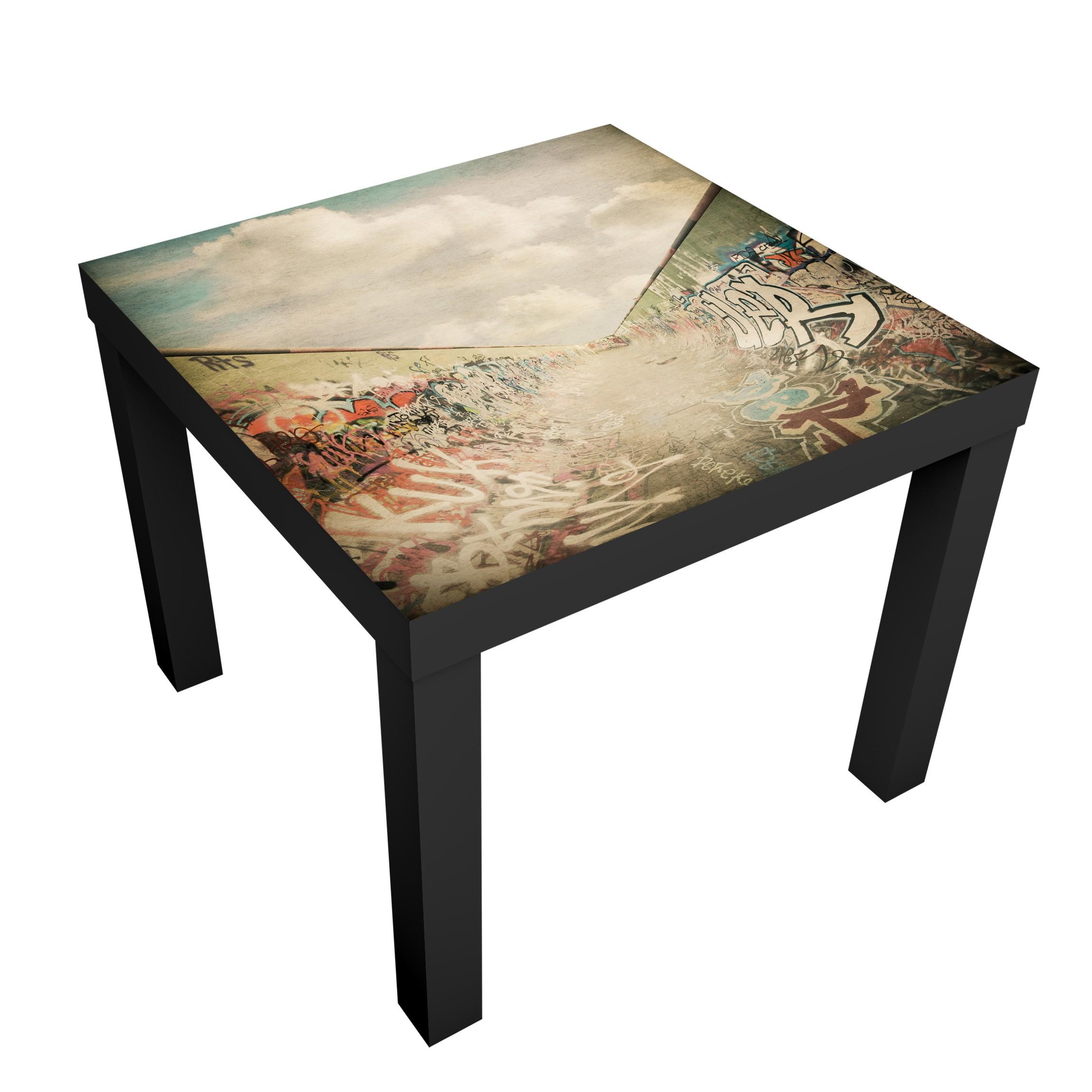 Carta adesiva per mobili ikea lack tavolino graffiti skate park - Carta plastificata adesiva per mobili ...