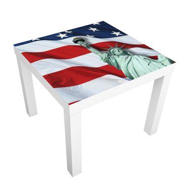 Immagine del prodotto Carta adesiva per mobili IKEA - Lack Tavolino In God We Trust