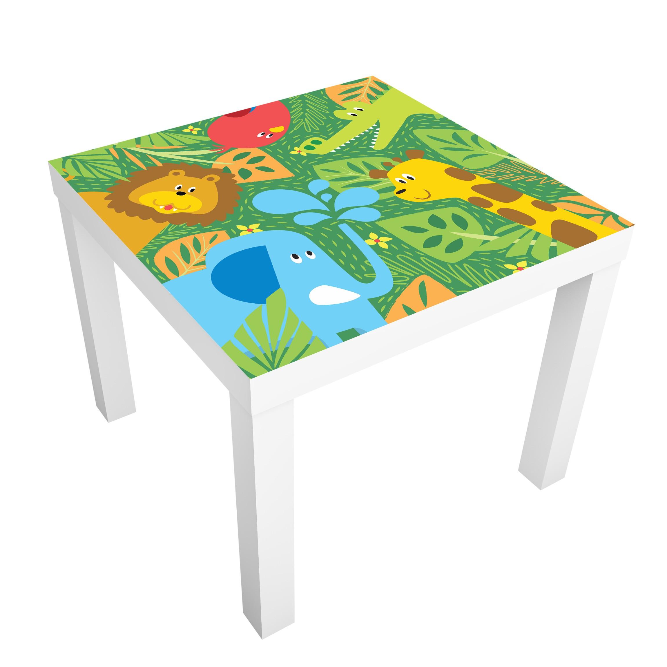 Carta adesiva per mobili ikea lack tavolino no bp4 zoo animals - Carta per coprire mobili ...