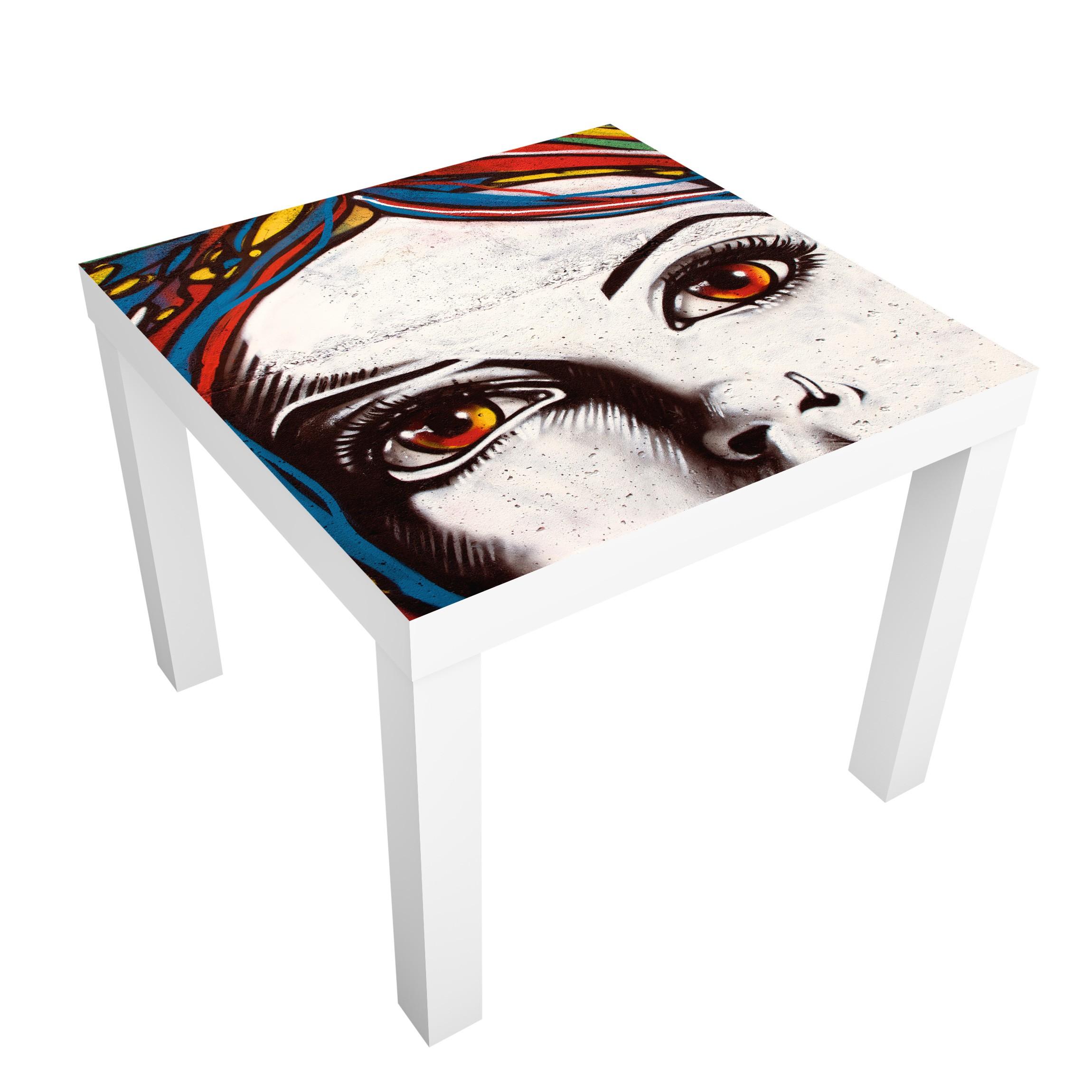 Carta adesiva per mobili ikea lack tavolino punk graffiti for Carta adesiva mobili