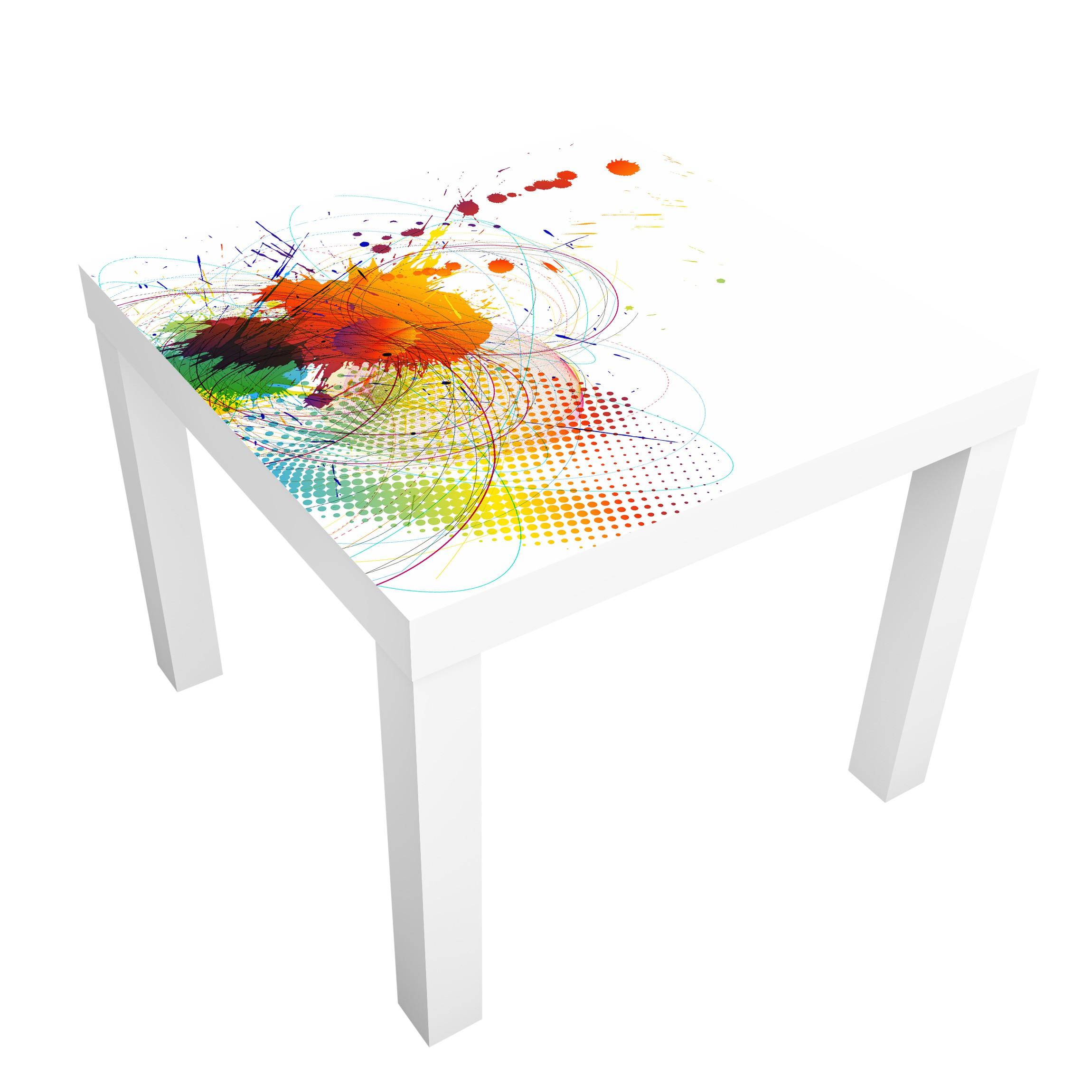 Carta adesiva per mobili ikea lack tavolino rainbow for Mobili per computer ikea