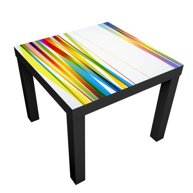 Produktfoto Möbelfolie für IKEA Lack - Klebefolie Rainbow Stripes