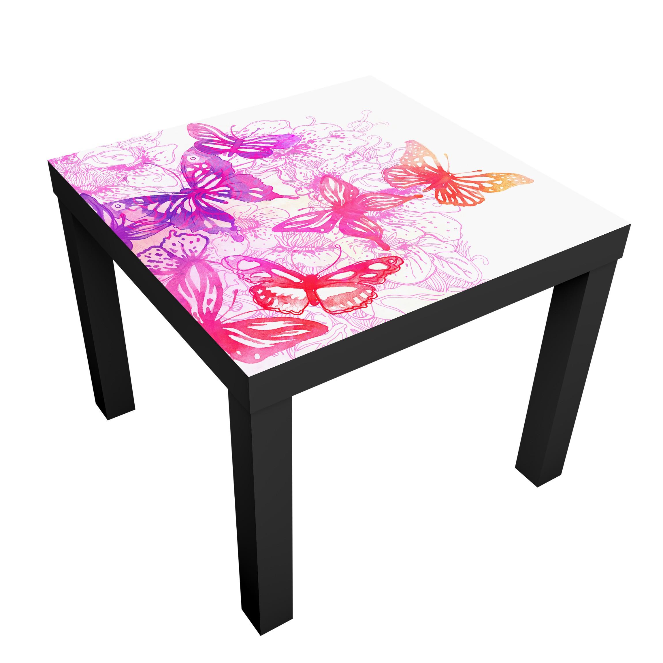 Carta adesiva per mobili ikea lack tavolino butterfly dream - Carta per foderare mobili ...