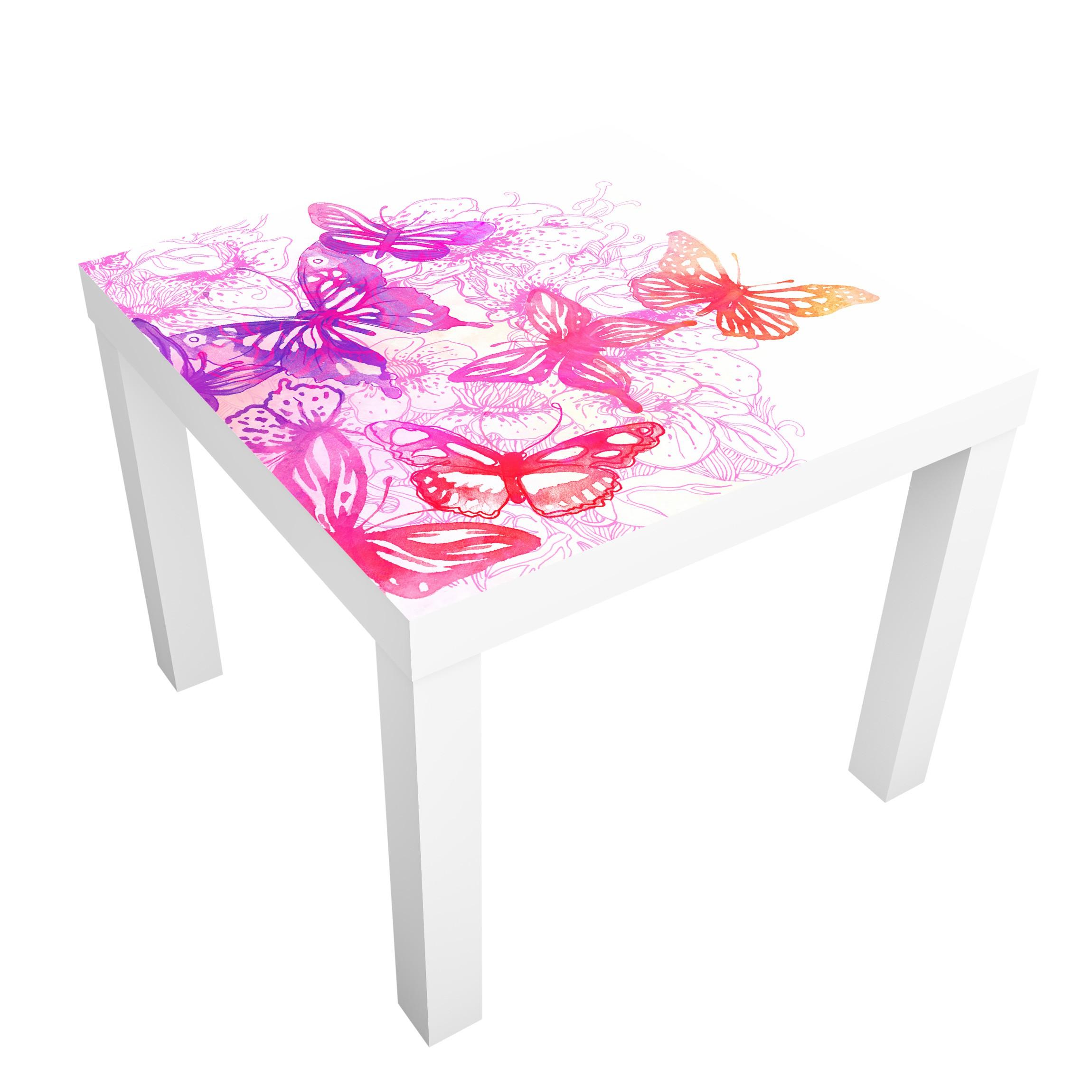 Carta adesiva per mobili ikea lack tavolino butterfly dream for Carta adesiva mobili