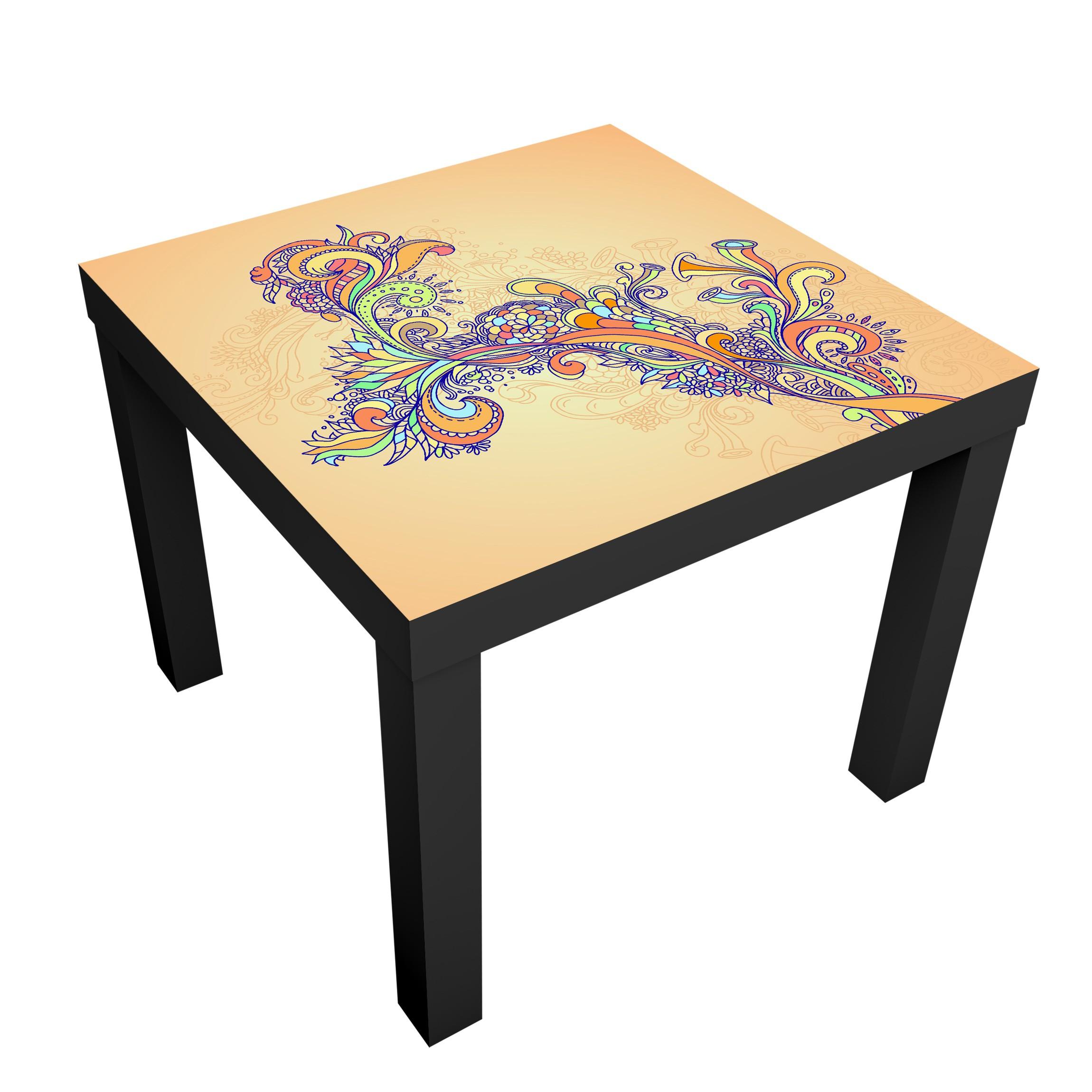 Carta adesiva per mobili ikea lack tavolino summer illustration - Carta adesiva colorata per mobili ...