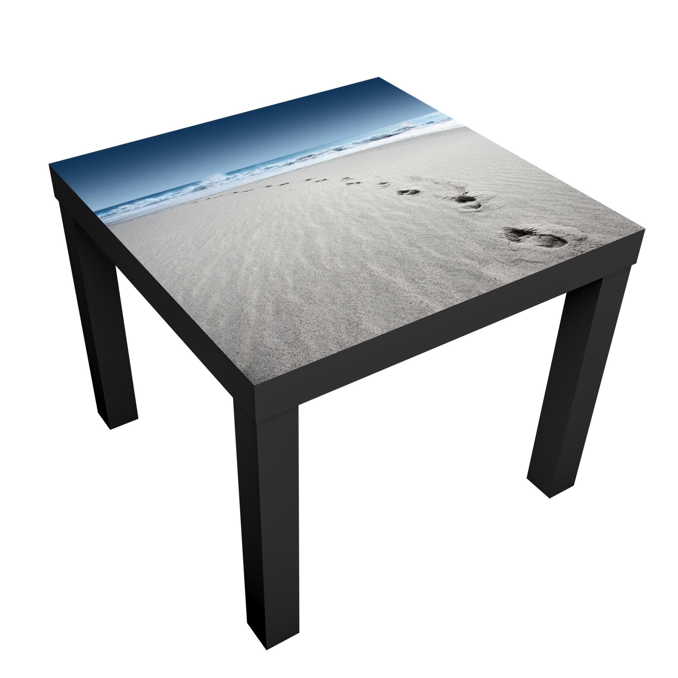 Carta adesiva per mobili ikea lack tavolino footprints in the sand - Carta adesiva colorata per mobili ...