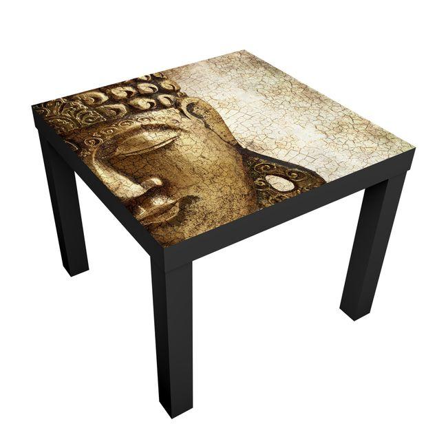 m belfolie f r ikea lack klebefolie vintage buddha. Black Bedroom Furniture Sets. Home Design Ideas