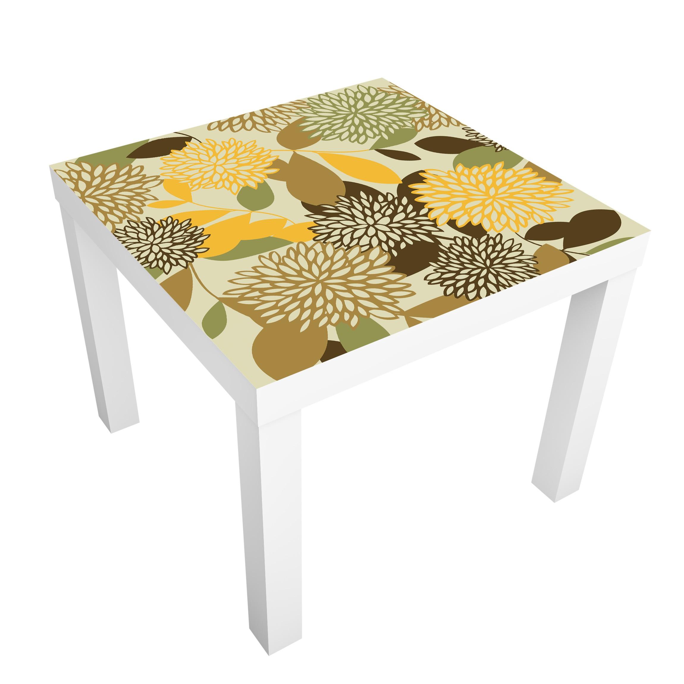 Carta adesiva per mobili ikea lack tavolino vintage flowers - Carta per coprire mobili ...